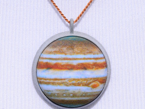 Jupiter Pendant Bezel in Polished Metallic Plastic