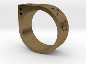 Biau Ring in Natural Bronze