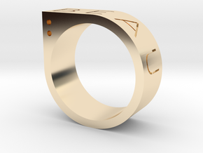 Biau Ring in 14k Gold Plated Brass