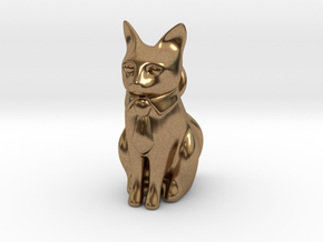 Business Cat in Natural Brass