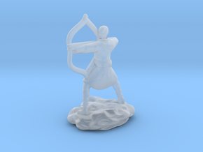 Elf Monk In Robes With LongBow in Smooth Fine Detail Plastic