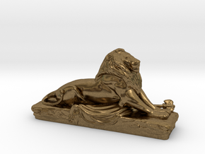 Lion sculpture  in Natural Bronze