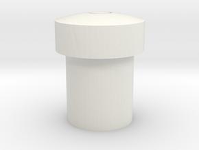 Kg12 Button in White Natural Versatile Plastic