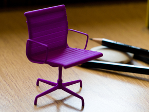 Aluminium Group Style Chair 1/12 Scale in Purple Processed Versatile Plastic