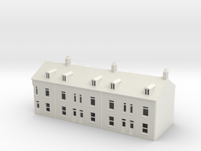 Topsham terraced houses N Scale 1:148 in White Natural Versatile Plastic