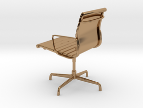Aluminium Group Style Chair 1/12 Scale in Polished Brass