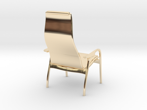 Lamino Style Chair 1/12 Scale in 14k Gold Plated Brass