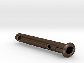 X3 metallic pin in Polished Bronze Steel