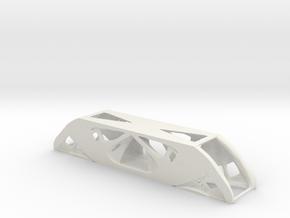 Topology Optimized Beam in White Natural Versatile Plastic
