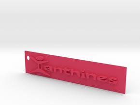 Xanthines Logo Key chain in Pink Processed Versatile Plastic