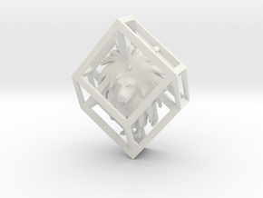 Wumpus in Hypercube Pendant in White Natural Versatile Plastic