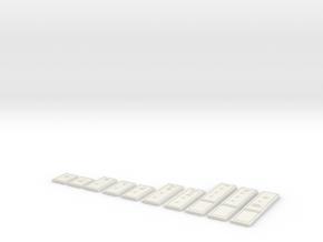 Credit Ingots - Star Wars- All Denominations in White Natural Versatile Plastic