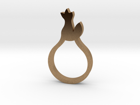 BEAU Ring in Natural Brass