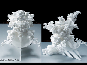 OrnaMENTAL Fractal Sculpture in White Strong & Flexible