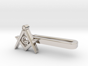 Freemason TP in Rhodium Plated Brass