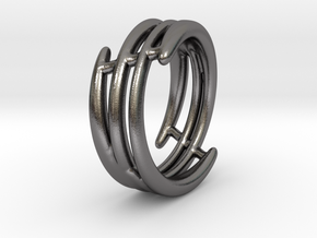 Ring of set : Soft Energy (size 5) in Polished Nickel Steel