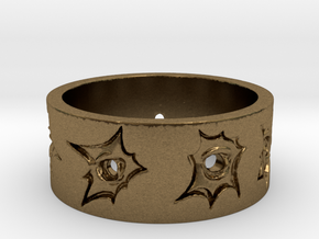 Outlaw Bullet Holes Ring Size 12 in Natural Bronze