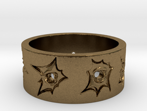 Outlaw Bullet Holes Ring Size 11 in Natural Bronze