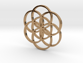 Flower_of_Life.stl in Polished Brass