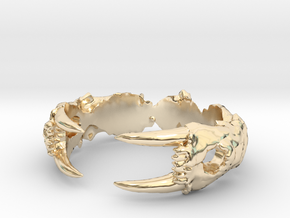 Saber-toothed Cat Ring in 14K Yellow Gold