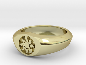 MTG Plains Mana Ring (Size 15 1/2) in 18k Gold Plated Brass