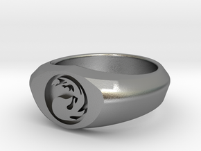 MTG Mountain Mana Ring (Size 8) in Natural Silver
