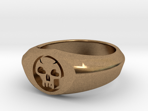 MTG Swamp Mana Ring (Size 8 1/2) in Natural Brass