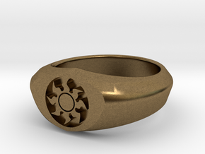 MTG Plains Mana Ring (Size 8 1/2) in Natural Bronze