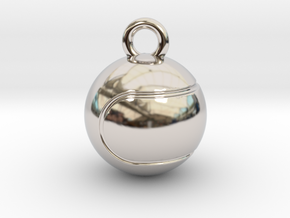 Tennis Ball in Rhodium Plated Brass