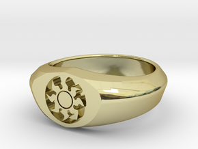 MTG Plains Mana Ring (Size 9) in 18k Gold Plated Brass