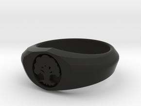 MTG Forest Mana Ring (Size 9) in Black Natural Versatile Plastic