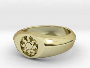 MTG Plains Mana Ring (Size 10) in 18k Gold Plated Brass
