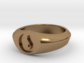 MTG Island Mana Ring (Size 11) in Natural Brass