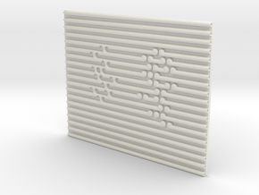Fine Fern Tactile Art in White Natural Versatile Plastic