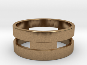 Ring g3 Size 6 - 16.51mm in Natural Brass
