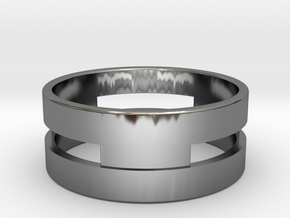 Ring g3 Size 7.5 - 17.75mm in Fine Detail Polished Silver