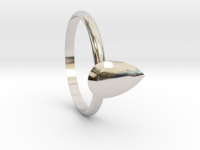 Pear gems Ring size 7.5 in Rhodium Plated Brass