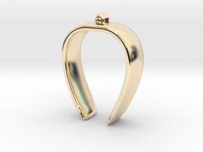 Paper towel Clip in 14K Yellow Gold
