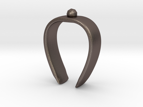 Paper towel Clip in Polished Bronzed Silver Steel