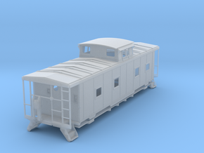 ACL M5 Caboose, split window, no roofwalk - HO in Smooth Fine Detail Plastic