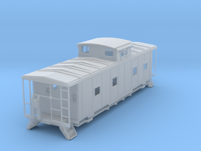 ACL M5 Caboose, split window, no roofwalk - S in Frosted Ultra Detail