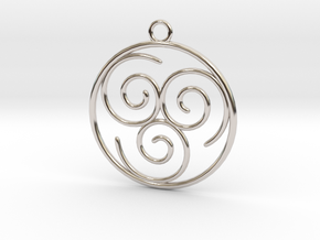 Avatar the Last Airbender: Air in Rhodium Plated Brass