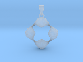 0063 Antisymmetric Torus Pendant (p=4.0) #004 in Smooth Fine Detail Plastic