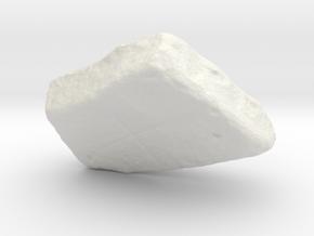 Tablet, monochrome version in White Natural Versatile Plastic