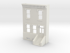 PHILLY ROW HOME 2 STORY FRONT 1/35 SCALE  in White Strong & Flexible