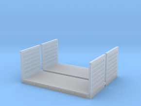 N Scale 20ft Flatrack Container #2 (2pc) in Smooth Fine Detail Plastic