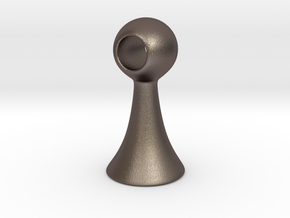 Dlg.75in in Polished Bronzed Silver Steel
