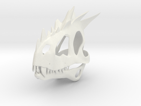European Dragon Skull in White Strong & Flexible