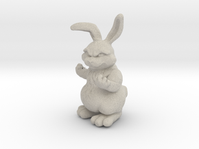 Bunny with a Attitude in Natural Sandstone