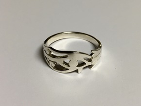 Eye of Horus Ring - Size 8 1/2 in Premium Silver